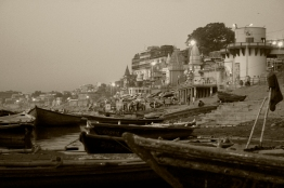alba sul Gange. Varanasi, India